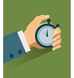 Time management modern vector image