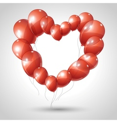 Valentines Hearts Balloon Background vector image vector image