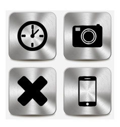 Web icons on metallic buttons set vol 7 vector image vector image