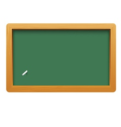 Wooden blackboard isolated on white background vector image