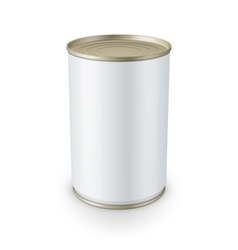 Tin can isolated on white background vector