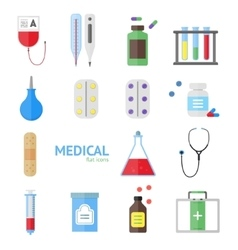 Medical healthcare equipment icon set vector