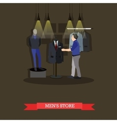 fashion mens store and vector image
