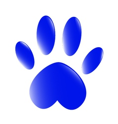Blue-Paw vector image