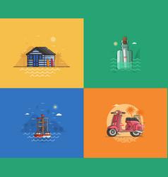 Summer seaside backgrounds vector