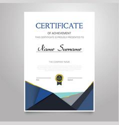 Certificate - vertical elegant document vector