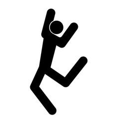 Dancer stick black color icon vector