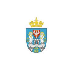 Flag of poznan poland vector