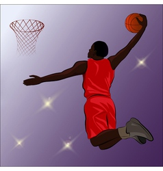 Basketball slam dunk - vector