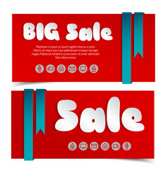 Sale cards in paper style vector