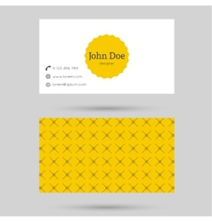 Trendy business card template vector