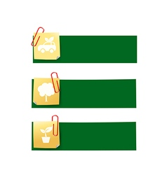 Eco icon ad tag ribbon banner eps10 004 vector