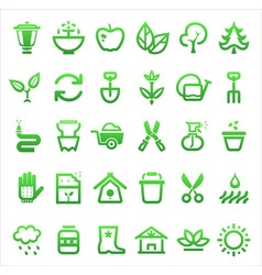 Garden icon set vector
