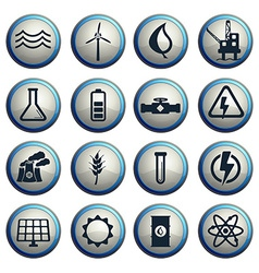 Power generation simply icons vector