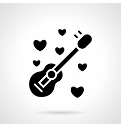 Romantic event black flat icon vector