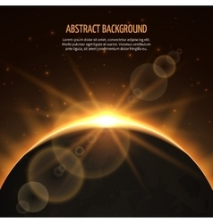 Sun eclipse abstract background vector