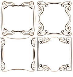 Set of four decorative multilayer frameworks vector