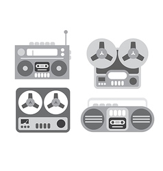 Recorder icons vector