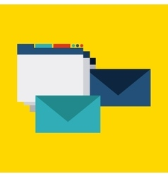 Website and envelope design blog concept vector