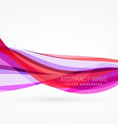 abstract pink color wave background design vector image vector image
