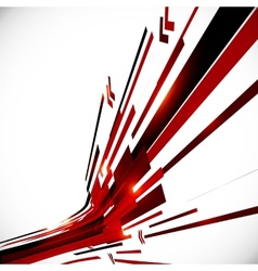 Abstract red and black shining lines background vector image
