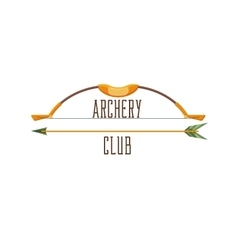 Archery club logo vector