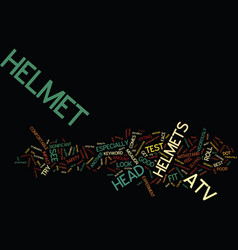 Atv helmet text background word cloud concept vector