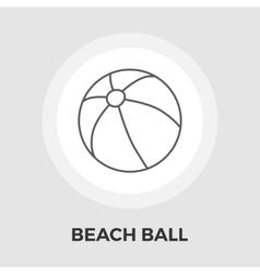 Beach ball Flat Icon vector image vector image