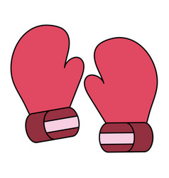 Boxing gloves isolated vector