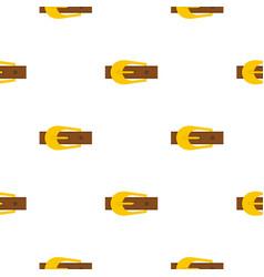 Brown belt pattern flat vector