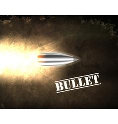 bullet background concept vector image