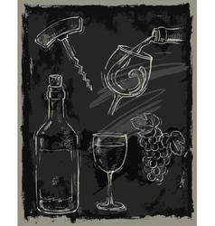 chalk wine vector image