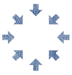 Compact arrows fabric textured icon vector