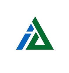 corporate letter a and i logo design triangle vect vector image vector image
