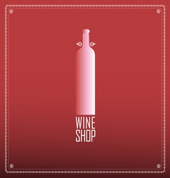 Cover with a bottle of wine vector image