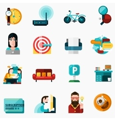 Coworking Icons Set vector image vector image