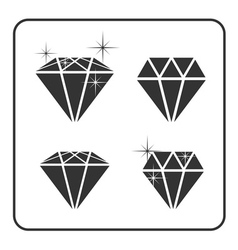 Diamond icon 4 vector