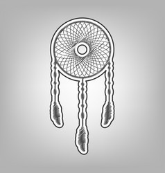 Dream catcher sign pencil sketch vector