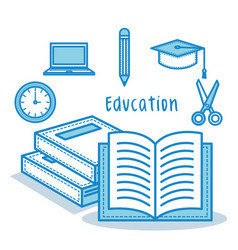 Education related objects vector