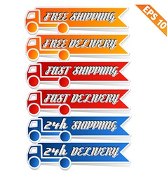Free delivery logistic advertising transportation vector