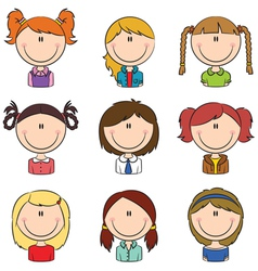 Girls avatar vector image