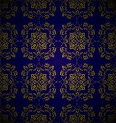 golden blue link floral vector image