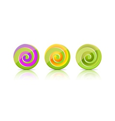 Green candies Lollipop set vector image vector image