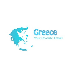 High Detailed Map of Greece vector image vector image
