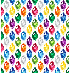 Jewel seamless pattern - edge stones hidden under vector