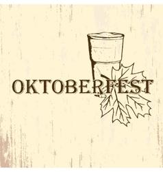 Oktoberfest emblem in hand drawn sketch style vector image vector image