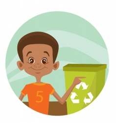recycle boy vector image vector image