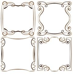 set of four decorative multilayer frameworks vector image vector image