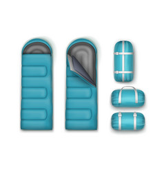 Set of sleeping bags vector