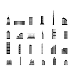 Set of various city buildings vector image